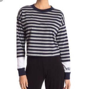 Tommy Hilfiger Striped Crop Long Sleeve Tee